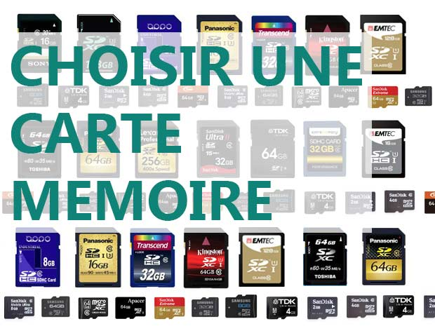 carte memoire choisir apprenti photographe aprendre la photo