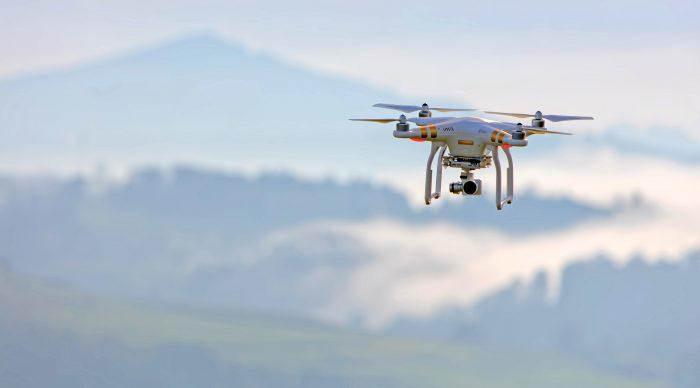 photo d'un drone en vol